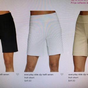 NWT - Boston Proper 7-inch stretch twill shorts